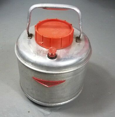 Vintage  FEATHERFLITE 1950's Poloron Aluminum Picnic Camping Jug Thermos Cooler