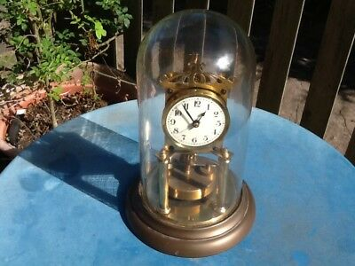 Vintage 400 Day Anniversary Glass Dome clock. Made in Germany. Big size.