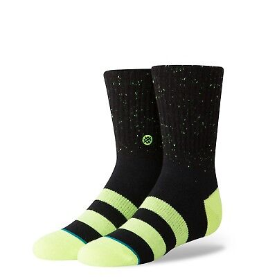 Stance Vibe Boys Classic Crew Sock - Black - Kids Large - B526C18VIB