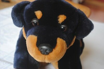 Keel Toys Soft Toy Dog Puppy Rottweiler Beanie Bottom
