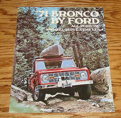 1971 Ford Bronco Foldout Sales Brochure 71