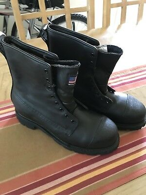 "Thorogood 8"" Station Fire Fighting Boots 804-6381 Size 9.5W"