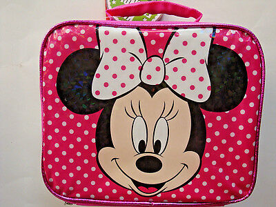 Disney Minnie Mouse Insulated Soft Lunch Bag,padded Handle,lunch Box,kids 3+,new
