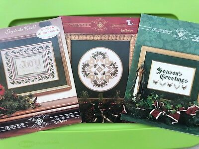 Christmas Hardanger Embroidery Pattern Book Lot Cross N Patch Joy Star Seasons