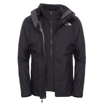 NWT The North Face Men's Evolve II Trail Jacket LARGE 3-in-1 Black T0CG55JK3