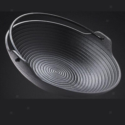 Portable Cast Iron Cooking Frying Griddle Skillet Grill Fry Pan Pot Outdoor