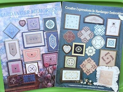 Hardanger Memories Embroidery Pattern Book Lot - Doily Bell pull Pillow Creative