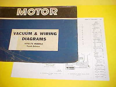 1970 1971 1972 1973 1974 Plymouth Duster 340 Dodge Dart Vacuum+Wiring Diagrams