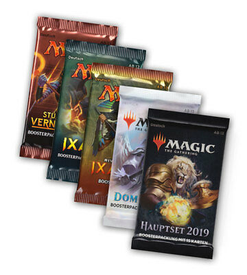 Magic the Gathering Welcome-Set 5 Booster M2019 Dominaria Ixalan u.a. MTG DE