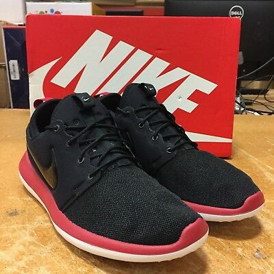 best website 25e44 650ea NIKE MEN'S ROSHE Two Running Shoes Sneakers Black / Gym Red / White Size 11  M US