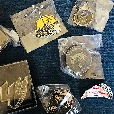 LOT OF 6 * NEW * ILM Crew Cast MOVIE pins *&* ILM ONLY THE BRAVE MOVIE HAT!