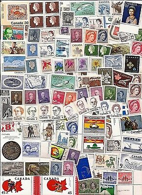 vintage MINT UNUSED FULL GUM CANADA Canadian postage stamps lot FH MNH