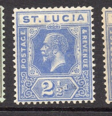St Lucia 1920s Early Issue Fine Mint Hinged 2.5d. 233169
