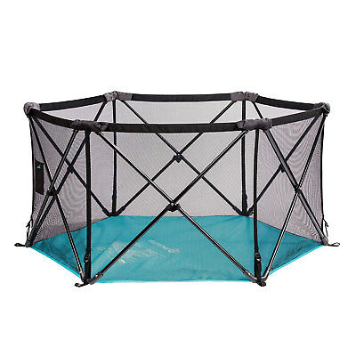 Summer Infant Lightweight Pop n Play Portable Play Yard, Tropical Turquoise