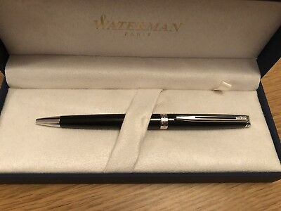 New Waterman Blue  Ink Black Ball Point Pen