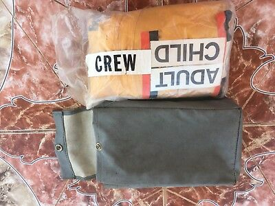 1960'S BRANIFF INTERNATIONAL AIRWAYS Crew Life Jacket Donning CHECKED SEALED!