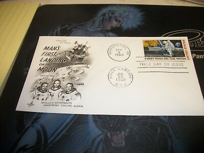 1969 First Man on the Moon first day of issue stamped envelope
