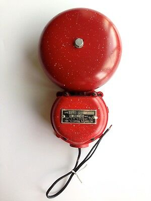 Vintage Dictograph Electric Fire Alarm Bell In Great Condition Works Well!