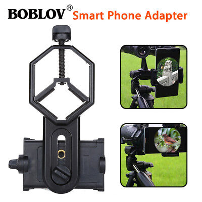 BOBLOV Cellphone Binocular Monocular Spotting Scope Adapter Mount Black 25-48mm