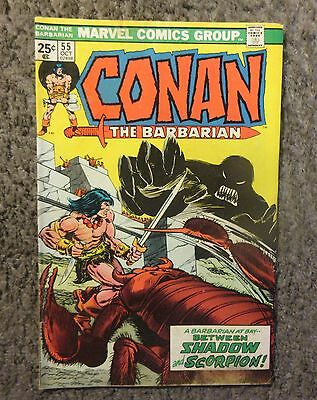 """Marvel """"conan The Barbarian"""" Issue #55 Oct. 1975 Good+ Condition W/shadow Thing"""
