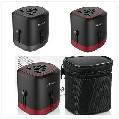 International Universal Travel Power Adaptor Converter USB Charger AU/UK/US/EU