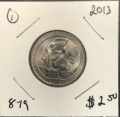 2013  Mount Rushmore National Park Quarter . Collector Coin For Collection.1
