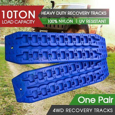 10T Pair Recovery Tracks Sand Track 2pc Sand / Snow / Mud Trax 4WD Blue NEW