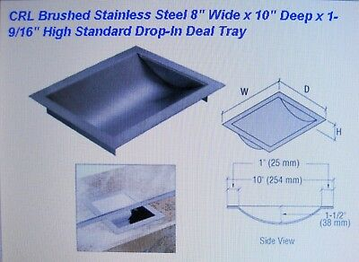 "C.R. Lawrence CRL Drop-In Deal Tray Brushed Stainless 8 Inch CTDB08 NIB 8"" wide"