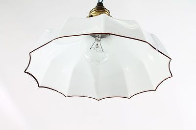 Beautiful Old Hanging Lamp Kitchen Cult Retro Design Style 30er Years Lamp