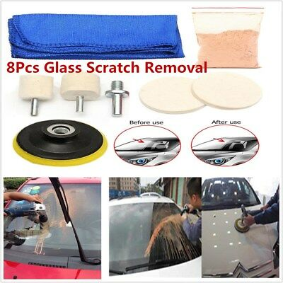 8pcs Glass Polishing Scratch Removal Cleaning Kit For Car SUV Windshield Window