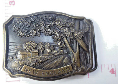 Vintage New England Scenery Men's Belt Buckle by Indiana Metal Craft G96