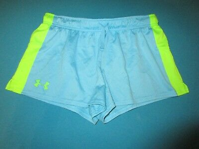 UNDER ARMOUR Girls Blue Green Shorts Size Extra Large XL