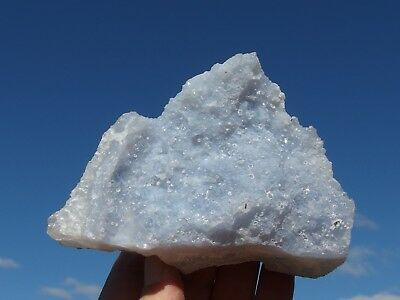 Blue Lace Agate Chalcedony from Malawi. 11 x 8 cm.
