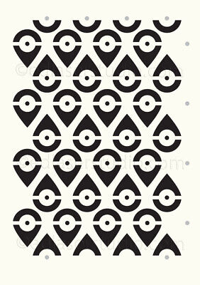 Decorative Stencil Pattern Template Home Decor Paint Furniture Card making TE259