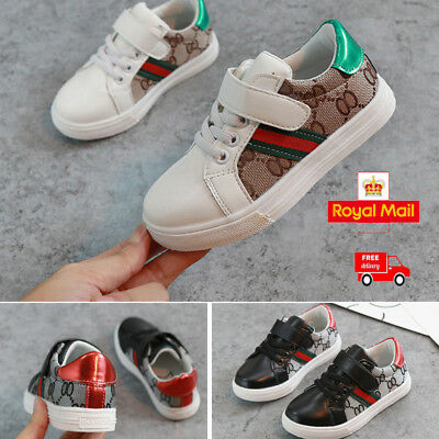 Boys Girls Kids Sneakers Sports Athletic Leisure Running Flat Trainers Shoes
