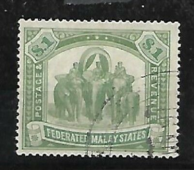 Malaya: Federation Scott 34, I don´t see WK, only green, used. EB0116