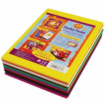 Craft Planet A5 Funky Foam Sheet (24pk 2mm Thick)