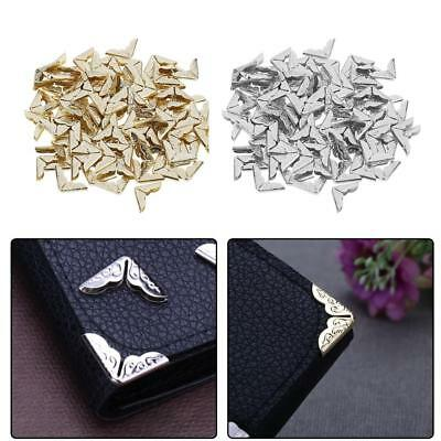 100pcs Tone Scrapbooking Albums Corner Protector Card File Menu Metal Book Decor