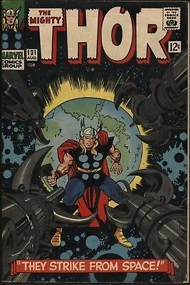 THOR #131 1st RIGELLIANS. HERCULES & ARES APPEAR TIGHT 8.0 VF OFF WHITE PAGES.