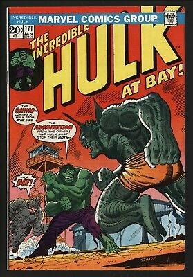 Incredible Hulk #171 Vs Abomination & Rhino! 1974 Glossy Cents With Wjite Pages