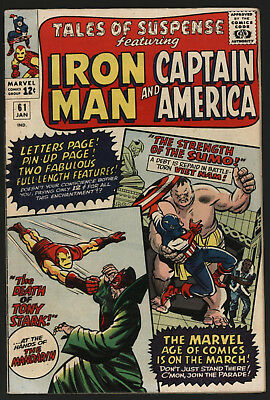 Tales Of Suspense #61, Jan 1965. Very Bright Glossy Cents Copy.