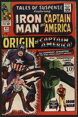 Tales Of Suspense #63, Mar 1965. Very Tight Copy, Off White/ White Pages.