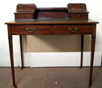 A great Carlton style antique mahogany writing desk