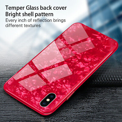 3D Glass Luxury Bling Shockproof Silicone Case Cover For iPhone 8 Plus 7 X