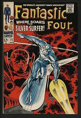 Fantastic Four #72 Great Silver Surfer Cover! Very Glossy 9.0 Great White Pages