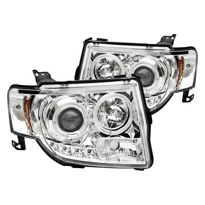 For Ford Escape 08-12 IPCW Chrome Halo Projector Headlights w Parking LEDs