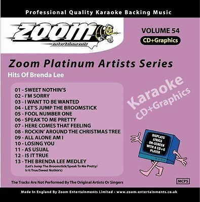 Zoom Karaoke Platinum Artists Series Volume 54 Hits Of Brenda Lee CD + G New
