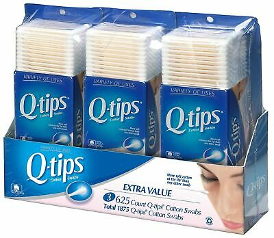 Q-tips Cotton Swabs, Club Pack 625 ct, 3ct, {Imported from Canada}