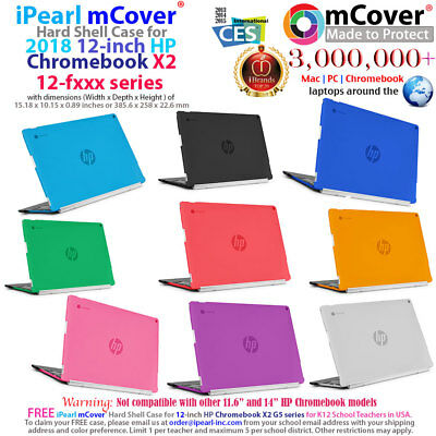 "mCover Hard Case for 2018 12"" HP Chromebook X2 12-F000 series Laptop Computers"