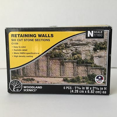 Woodland Scenics C1159 Cut Stone Retaining Walls N/HO Scale Train Scenery NEW